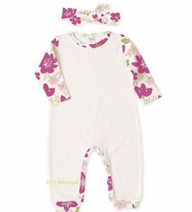 7f583aed96d3 Girl TESA BABE boutique outfit NB 0-3 NWT cotton knit long romper ...