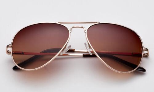 Aviator Sonnenbrille Top Gun Klassischer Metall Feder Rahmen Men Damen Pilot UV