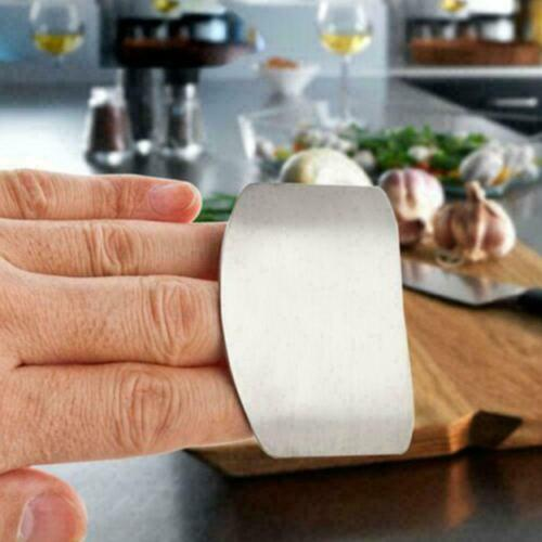 P9V9 Kitchen Finger Hand tector Guard Stainless Steel Chop Shield Sli Cook-Tool