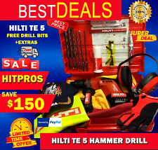 Hilti Te 5 Hammer Drill Lk Free Drill Bits And Extras Fast Ship