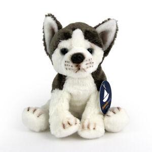 Stofftier kleiner Husky, sitzend, Hund, Plüschtier (H. ca. 14 cm)