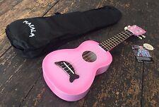 Makala Pink Soprano Ukulele Fitted With Aquila Strings  & Black Case
