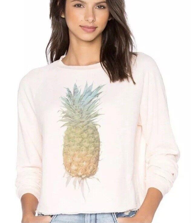 NWOT Wildfox Pineapple Jumper Sweatshirt Size Medium Medium Medium 273a48
