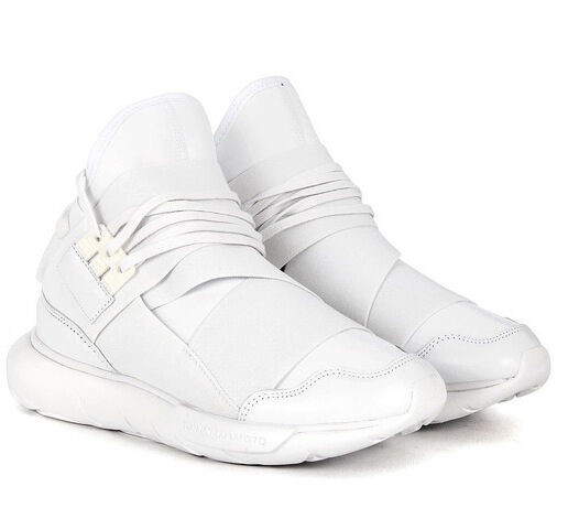 Y-3 Adidas Sneakers White Qasa Neoprene and leather Size US 9,5