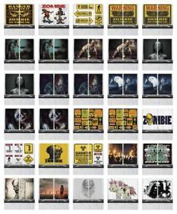 Zombie-Kitchen-Curtains-2-Panel-Set-Window-Drapes-55-034-X-39-034-Ambesonne