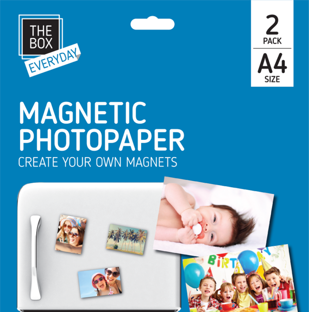 A4 MAGNETIC PHOTO GLOSS PAPER SUITABLE FOR ALL INKJET PRINTERS Fridge Card Gift