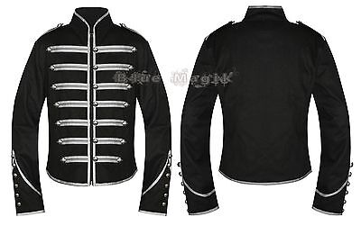 Gothic Steampunk Parade Military Marching Drunmmer Band Jacket Punk Emo