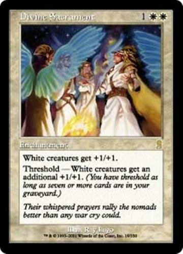 DIVINE SACRAMENT Odyssey MTG White Enchantment RARE
