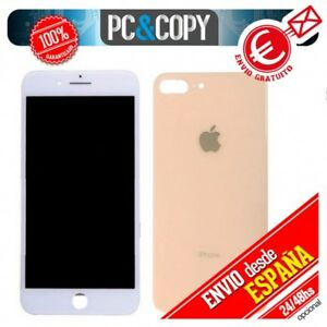 80bf81e1 Detalles de Pantalla LCD Blanca + Tapa trasera bateria Oro iPhone 8 Plus  5,5 Calidad A++