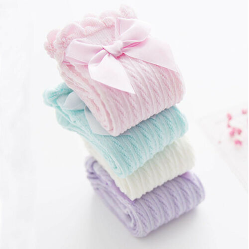 Chaussettes Princesse Filles Long Enfants Tube Socks Jambières Genou Chaussettes