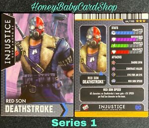 Injustice Arcade Series 1 Out of Print Card 64 Red Son Deathstroke