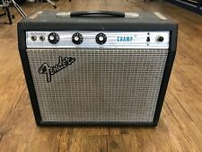 1976 Fender Champ Vintage Amp Silverface Tube Amplifier Excellent Condition