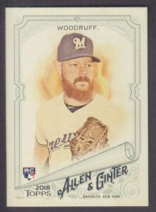 Topps-Allen-amp-Ginter-2018-Base-SP-304-B-Woodruff-Milwaukee-Brewers-RC