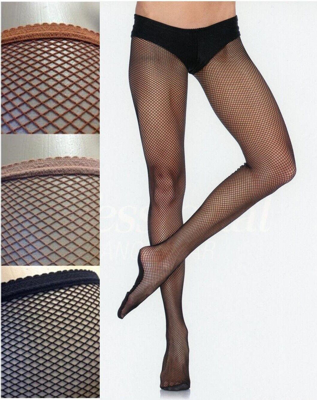 Pro Dancer Tights Fishnet Size C/D Black Suntan Lt Toast Leg Avenue PD801