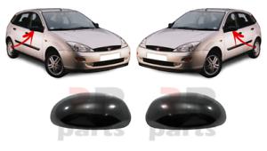 Para Ford Focus MK1 98-04 Nuevo Gorra De Cubierta De Espejo De Ala Negro//para pintar izquierda