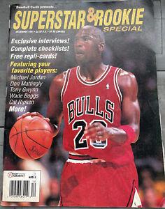 MICHAEL JORDAN 1991 SUPERSTAR ROOKIE MAGAZINE   CARD PANEL