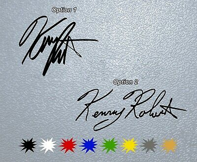 STICKER PEGATINA DECAL VINYL Kenny Roberts Signature