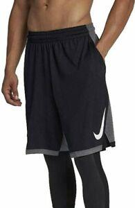 NIKE Dry Dribble Basketball Shorts Black Grey 891812 010 - Medium New/Cut Tag