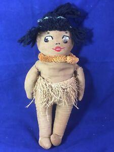 Vintage-Hawaiian-Doll-Warrior-15-034-1920-039-s-KUU-PE-039-PE-039