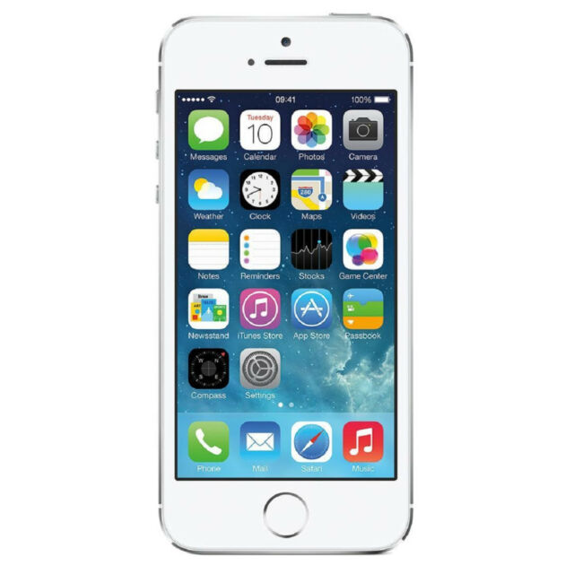 Apple iPhone 5s 16GB AT&T Locked 4G LTE Phone w/ 8MP Camera - Silver