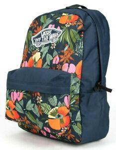 Vans Realm Multi Tropic Backpack Tropical Floral School Laptop Bag
