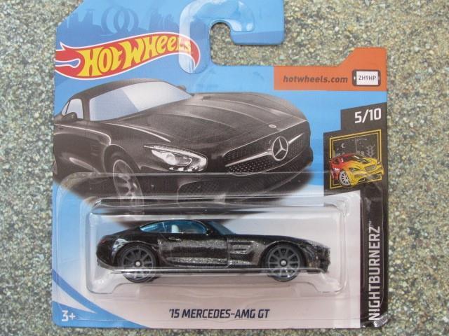 HOT WHEELS 2018 #142/365 2015 Mercedes-AMG GT noir HW NIGHTBURNERZ