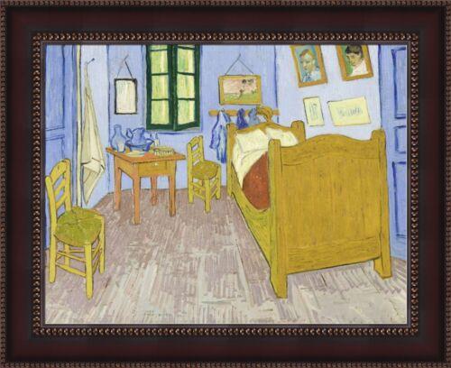 """V06-36 Vincent van Gogh Bedroom in Arles Framed Canvas Giclee Print 33.5/""""x27/"""""""