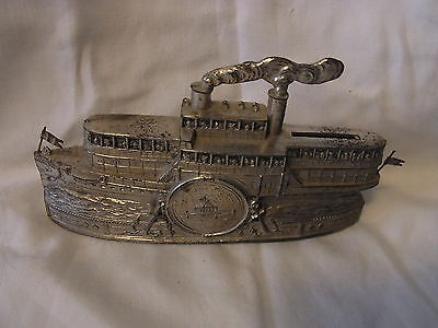 Original Antique German Mone Biggy Bank Souvenir Konlenz Ship Building #^