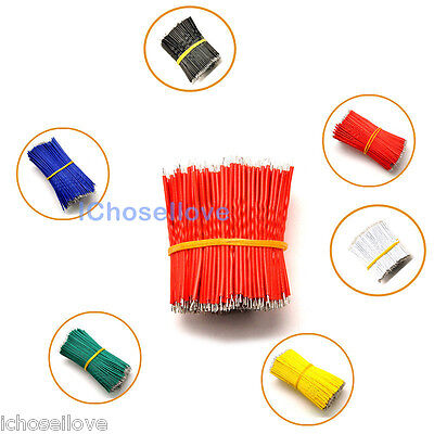 50PCS Colorful Tinning PE Wire Cable 50MM 5CM Jumper Wire Copper Line 6-Colors
