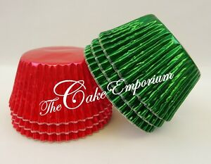 72-Mix-Christmas-Cupcake-Muffin-Bun-Cases-Red-and-Green-Foils