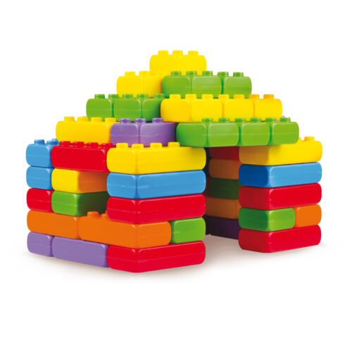 Baukasten 60 Bausteine Bauklötze Ziegelsteine Spielzeug für Kinder ab 1 Jahr