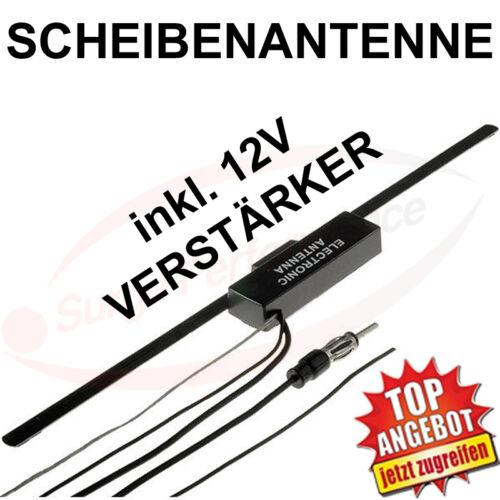FM vitres antenne glasklebeantenne AM//FM Amplificateur 2,5 m Câble DIN-Connecteur