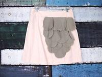 Floreat Anthropologie Rose Of Sharon Pink Ruffle Petal Mini Skirt 8, 10
