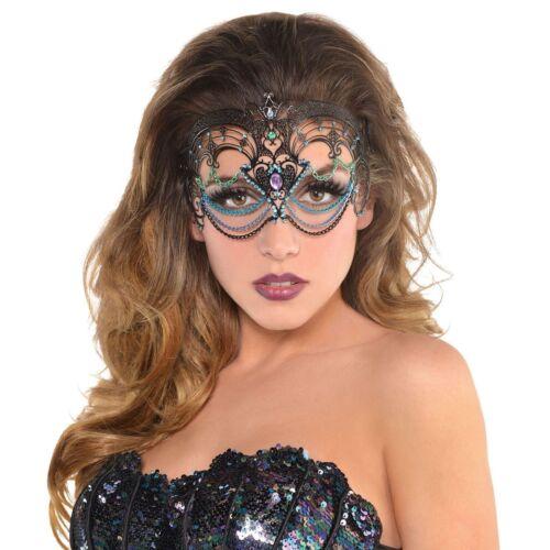 Ladies Sea Siren Mermaid Mask Filigree Face Masquerade Halloween
