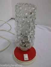 50er 60er Tischleuchte Nachttischlampe Bubbleglas mid century lamp 50s 60s