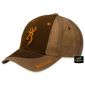 1e85bac70fde8 NEW BROWNING TWO TONE WAX COTTON HAT ADJUSTABLE BALL CAP BUCKMARK ...