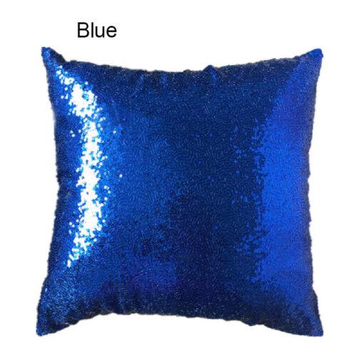 40*40CM European Sequins Pillow Case Sofa Cushion Covers Glitter Throw Cover