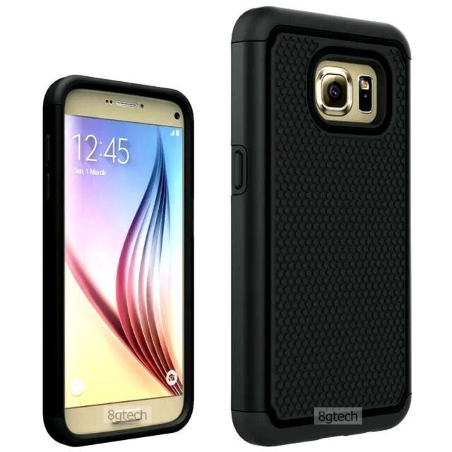 Black Dual Layer Hybrid Hard Case For Samsung Galaxy S7