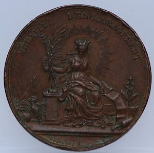 France-1840-LOUIS-PHILIPPE-Ier-Medaille-d-encouragement-medecine-pharmacie