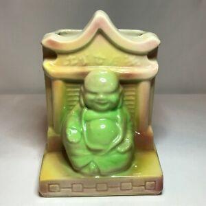 Vintage Shawnee Pottery Air Brushed Buddha Planter 524 - RARE