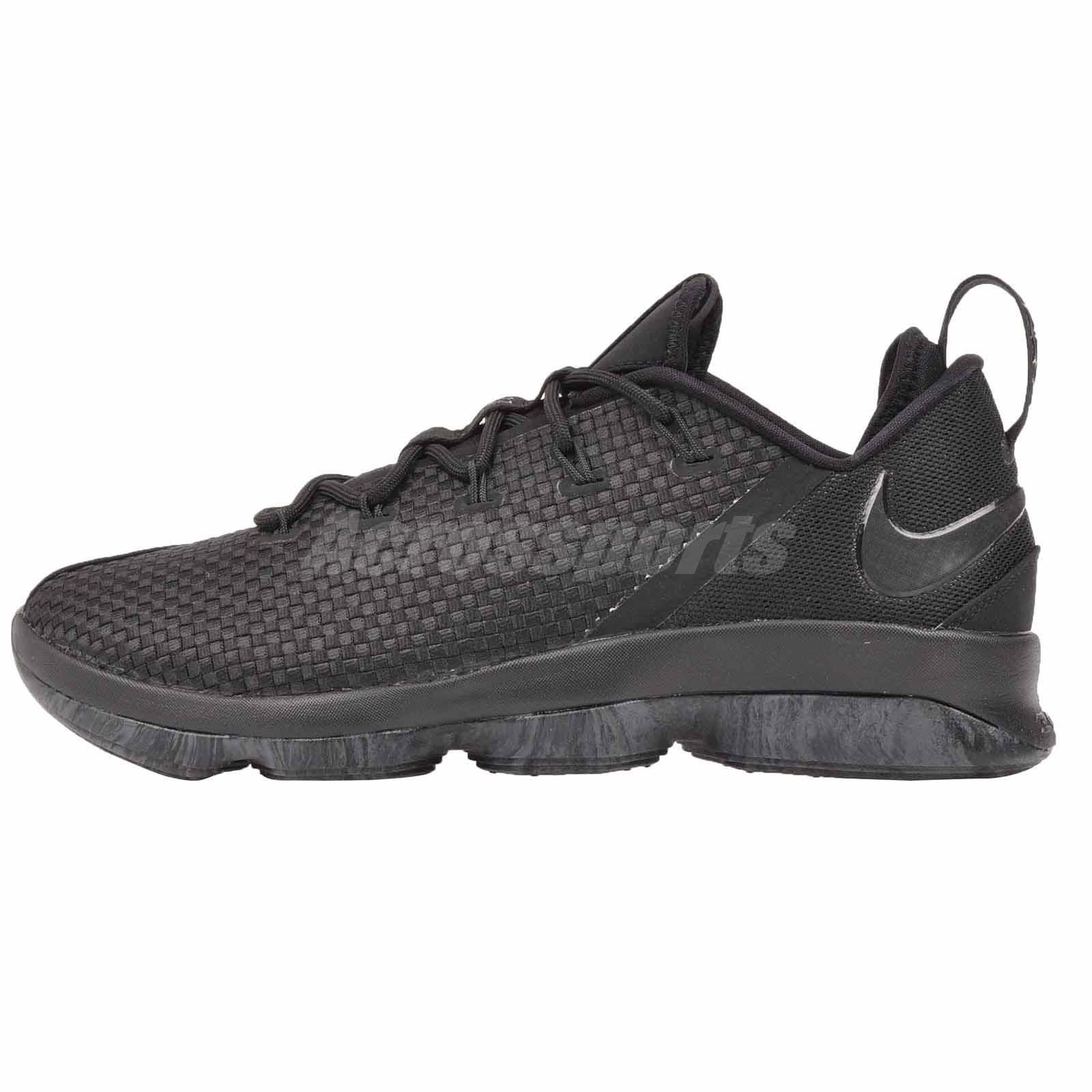 c0cbd2cefdc48 Mens Nike Lebron XIV 14 Low Basketball Shoes Size 12 Black Dark Grey ...