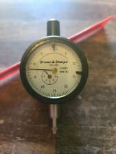 Brown Amp Sharpe Mw183 Standard Gage Dial Indicator 0005 Grad 250 Range