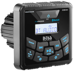 Boss-MGR450B-Digital-Marine-Bluetooth-Gauge-Receiver-For-Boat-ATUV-UTV-RZR-Cart