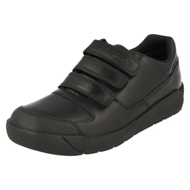 Clarks Boys Black School Shoes 'Flare