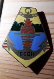 INSIGNE-MILITAIRE-CCGH-Compagnie-Coloniale-Garnison-Hanoi-Drago-indochine-G-854