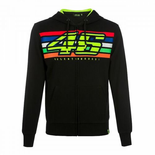 "Valentino Rossi Sweater in M VR46 Sweatjacke Jacke /""Stripes/"" in Schwarz 50"