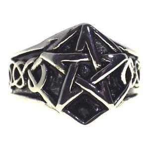 Pentagram Pagan Ring Mens Celtic Knot
