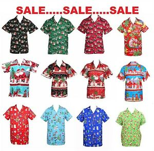 Christmas Hawaiian Shirt.Details About Mens Christmas Santa Xmas Hawaiian Shirt Hawaii Gift Him Party Holiday S Xxl D9