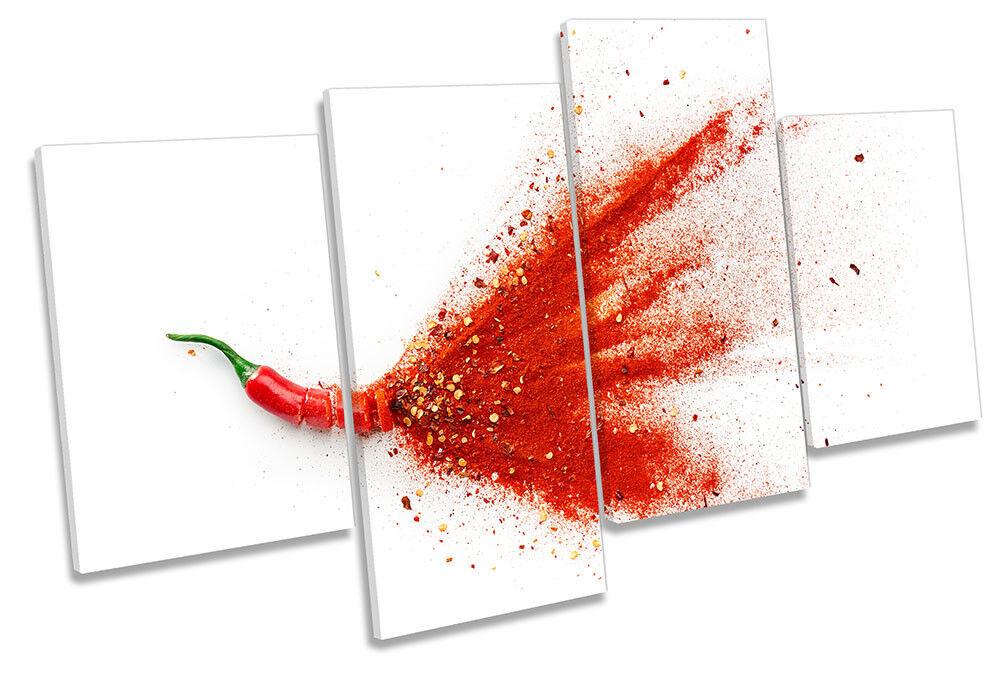 ESPLOSIONE Rosso Rosso Rosso Peperoncino Cucina incorniciato Multi stampa art. a muro 41746f