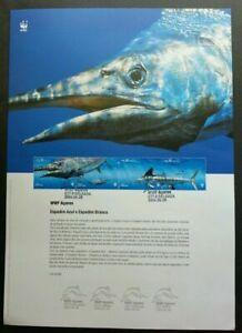 SJ-Portugal-WWF-Fish-2004-Marine-Ocean-Life-Underwater-stamp-on-info-sheet